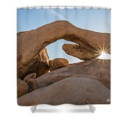 Arch Rock Sunrise Shower Curtain