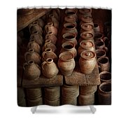 Archaeologist - Pottery - Today's Dig Was Amazing Shower Curtain by Mike Savad