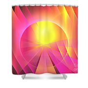 Archangel Chamuel Shower Curtain
