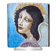 Archangel Contemplating The Holy Child Shower Curtain
