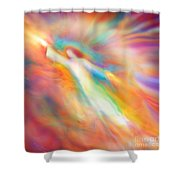 Archangel Jophiel Illuminating The Ethers Shower Curtain