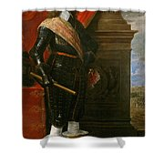 Archduke Leopold Wilhelm With The Siege Of Gravelingen Shower Curtain
