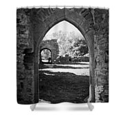 Arched Door At Ballybeg Priory In Buttevant Ireland Shower Curtain
