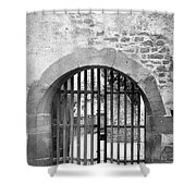 Arched Gate B W Shower Curtain