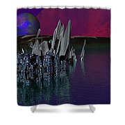 archeological Station on ERIDANUS  Beta Shower Curtain