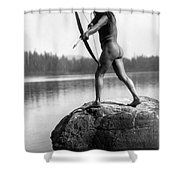 Archery: Nootka Indian Shower Curtain