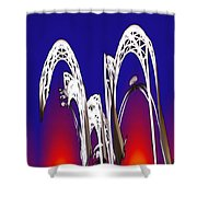 Arches 8 Shower Curtain