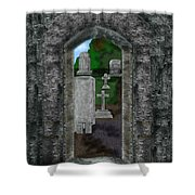 Arches And Cross In Ireland Shower Curtain