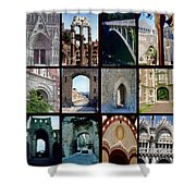 Arches Collage Shower Curtain