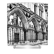 Arches Front Of The Royal Courts Of Justice London Shower Curtain