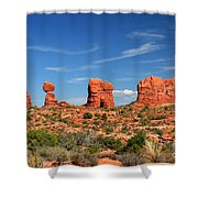 Arches National Park - Hoodoos Carved In Entrada Sandstone Shower Curtain