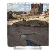 Arches National Park Park Avenue  Shower Curtain