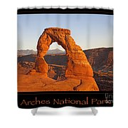 Arches National Park Poster Shower Curtain
