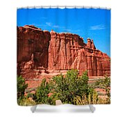 Arches National Park, Utah Usa - Tower Of Babel, Courthouse Tower Shower Curtain