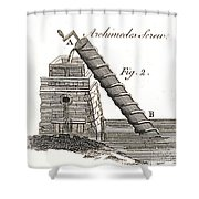 Archimedes Screw, 1769 Shower Curtain