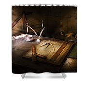 Architect - The Drafting Table  Shower Curtain