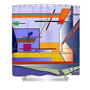 Architectural Abstract 2 Shower Curtain