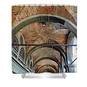 Architectural Ceiling Of The Building Owned By The Rialto Market In Venice, Italy Shower Curtain