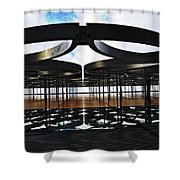 Architectural Detail Abstract Shower Curtain