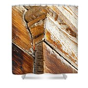 Architectural Detail At Bodie 1 Shower Curtain