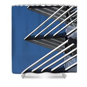 Architectural Detail Of Triangles Shower Curtain