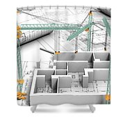 Architectural Drafting Services Shower Curtain