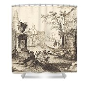 Architectural Fantasy With Roman Ruins Shower Curtain