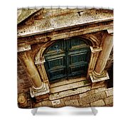 Architectural Green Door Dibrovnik Shower Curtain