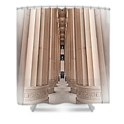 Architectural Pathway Of Pillars Shower Curtain