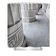 Architectural Pillars Shower Curtain