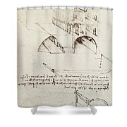 Architectural Study Shower Curtain