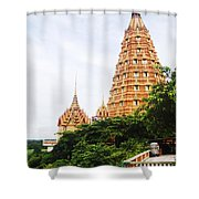 architecture at Wat Tham Sua Shower Curtain