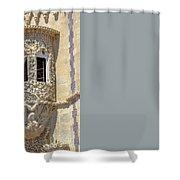 Architecture Background Sintra Shower Curtain