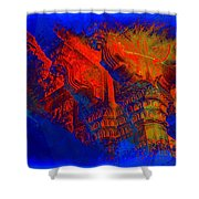 Architecture Detail  Amber Fort Palace India Rajasthan Jaipur Abstract Square 1a Shower Curtain