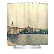 Architecture Of Charles Bridge Shower Curtain