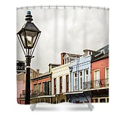 Architecture Of The French Quarter In New Orleans Shower Curtain