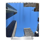 Architecture Tall Color Buildings Shower Curtain