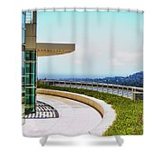 Architecture View Getty Los Angeles  Shower Curtain