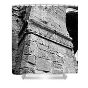 Architecural Detail At Irish Jerpoint Abbey County Kilkenny Ireland Black And White Shower Curtain