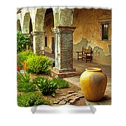 Archways At The Mission, Mission San Juan Capistrano, California Shower Curtain