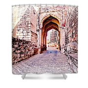Archways Ornate Palace Mehrangarh Fort India Rajasthan 1a Shower Curtain