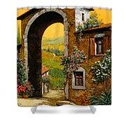 Arco Di Paese Shower Curtain by Guido Borelli