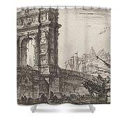 Arco Di Trajoano In Ancona Shower Curtain