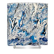 Arctic Frenzy Shower Curtain