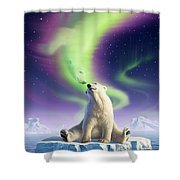 Arctic Kiss Shower Curtain