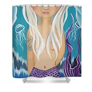 Arctic Mermaid Shower Curtain
