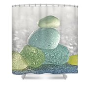 Arctic Spring Sea Glass Shower Curtain