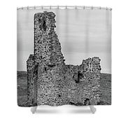Ardvrek Castle 0945 Bw Shower Curtain
