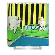 Are We Home Yet? Shower Curtain