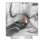 Are You Gonna Kiss Me Or Not Shower Curtain